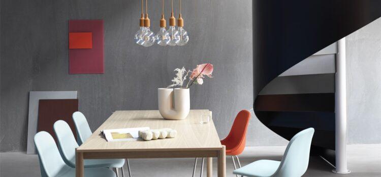 Lampa Muuto jako element aranżacji wnętrza o minimalistycznym charakterze